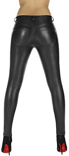 elegante Shape-Leggings versch. Styles * formend modellierend schlankmachend * Gr. S M L XL XXL Schlankmacher Leggins Damenhose Push-Up Schwarz (Leila)