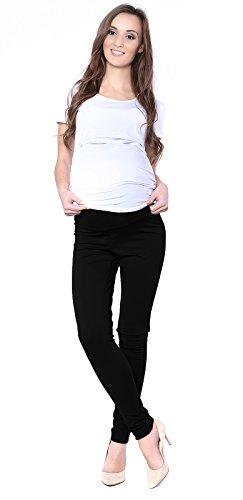 Mija - Elegante Damen Slim Umstandshose mit Bauchband 1046