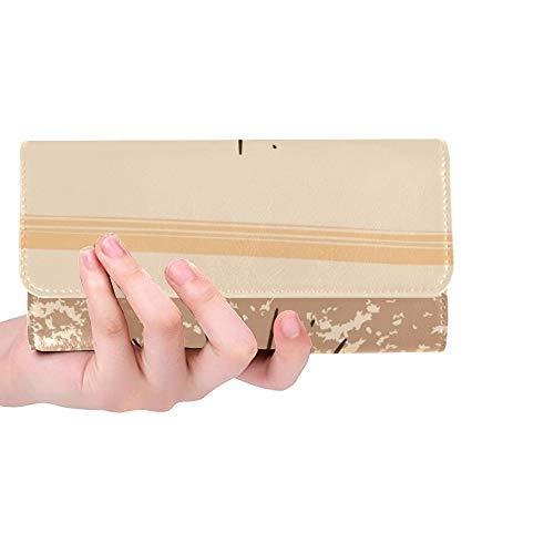 Einzigartige benutzerdefinierte Hallo November inspirierende Zitat Typografie Kalender Frauen Trifold Wallet Lange Geldbörse Kreditkarteninhaber Fall Handtasche