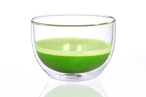 Matcha Schale/Matcha Teeschale 400ml aus doppelwandigem Thermo-Glas, Original Aricola®