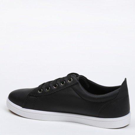 Ideal Shoes - Baskets homme avec détail sur le côté Carl Noir