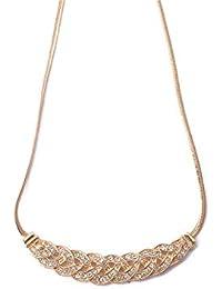 389e9ff17e9b ZQword Collar de Moda para Las Mujeres Joyería Cadena de Cristal Gargantilla  Chunky Declaración Bib Colgante