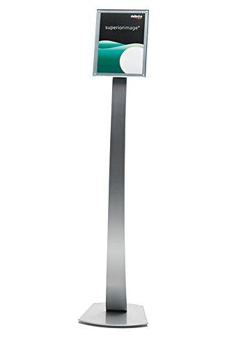 Deflect-o Contemporary Prospektständer A4, Silber-transparent