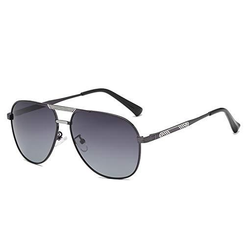 HBCELY Männer polarisierte Sonnenbrille Retro Runde übergroße Sonnenbrille Sport Verfärbungen Nachtsichtbrille Metallrahmen Gläser zum Fahren Angeln Radfahren,C3