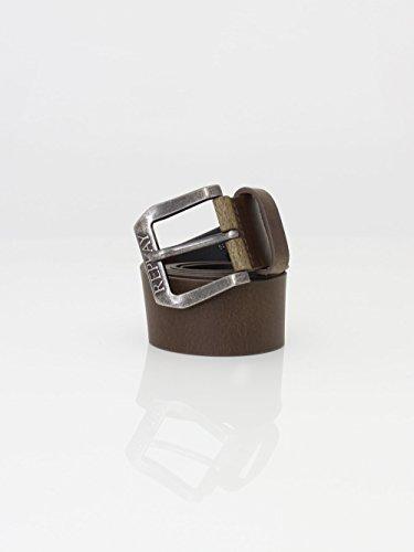 Replay Men's Men's Dark Brown Leather Belt In Size 100 Brown