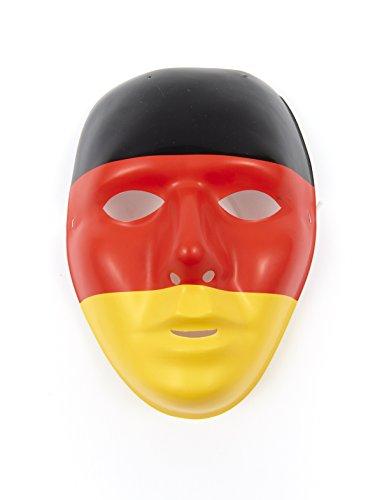 Pierro´s Artikel Zubehör Halbmaske Deutschland Maske Accessoires Deutschland Fanartikel für Karneval, Fasching, Motto Party / Deutschland Germany Fußball WM EM FAN (Kostüm Brasilien Motto)