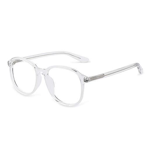 Gläser Brille Anti-Blaulichtstrahlung Große gerahmte Brille HD Augenschutz 0 Grad Naturharz Transparent Männer und Frauen