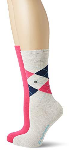 BURLINGTON Damen Socken Everyday 2-Pack, Baumwollmischung, 2 Paar, Grau (Graphite 3823), Größe: 36-41