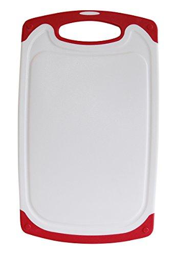 STONELINE 18155 Schneidebrett, Kunststoff, rot, weiß/rot, 40 x 24 - 18 X Schneidebrett-24