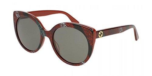 Gucci Damen GG0325S-005 Sonnenbrille, Rot (Rojo/Multicolor), 55