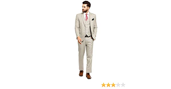 48063cb663a LUXURAZI The Imperial Beige Raymond 3-Piece Formal Suit  Amazon.in   Clothing   Accessories