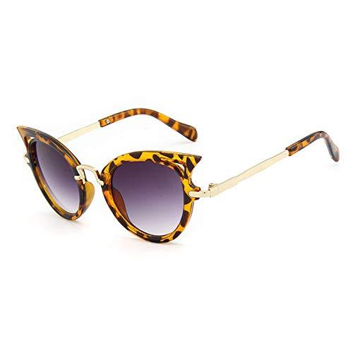 MJDABAOFA Sonnenbrillen Cat Eye Kinder Sonnenbrillen Sonnenbrille Mädchen Jungen Outdoor Sicherheit Leopard Brillengestelle Niedliche Kinder Brillen Uv400