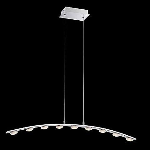 ZMH Suspension LED design pour salle à manger lampe de suspension ed intégrée design métal chrome 9 x 3 W hauteur réglable 9-lumière 3500K blanc chaud Plafonnier chambre à coucher pour un éclairage tout en beauté