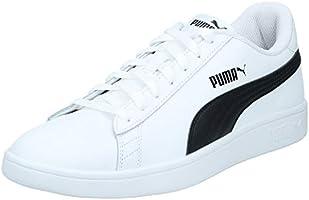 PUMA Smash V2 White Black, Scarpe da Ginnastica Basse Unisex – Adulto