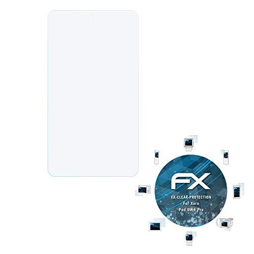 atFolix Schutzfolie kompatibel mit Xoro Pad 9W4 Pro Folie, ultraklare FX Bildschirmschutzfolie (2X)