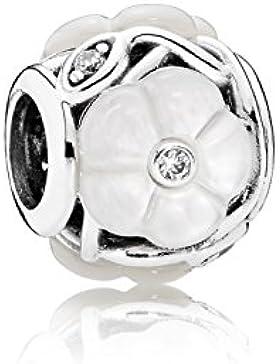 Pandora Charm  791894MOP Weiße Blüte