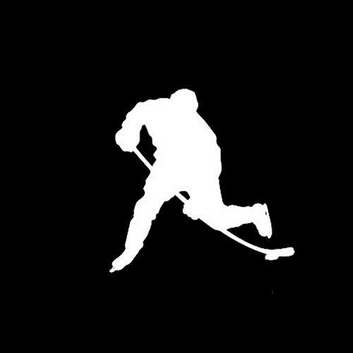 11,3 * 11,2 cm Windows-Autoaufkleber für Eishockeyspieler Motion Reflective Vinyl Decals