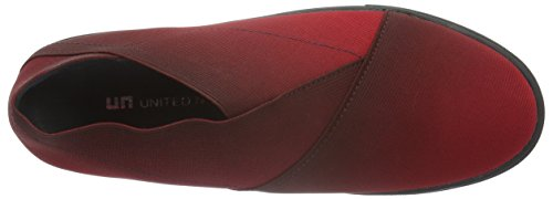 United Nude Origami Slip On, Mocassini Donna Rosso (Rot (Wine Fade))
