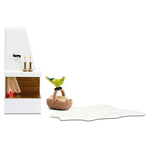 Lundby 60.3051.00 - angolo caminetto set, mini bambola con accessori
