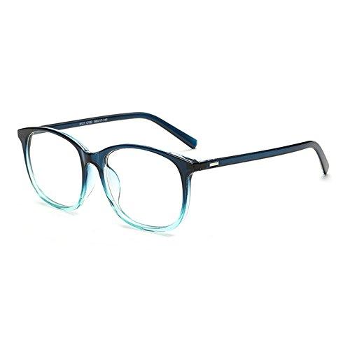 Aoligei Retro-Flachgläser Perle Anhänger Kette Flut Pigment Metallrahmen Brillenmode GWPPOd