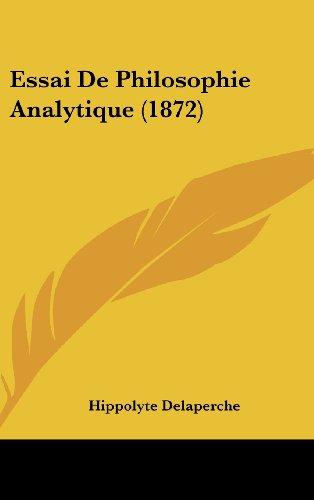 Essai de Philosophie Analytique (1872)