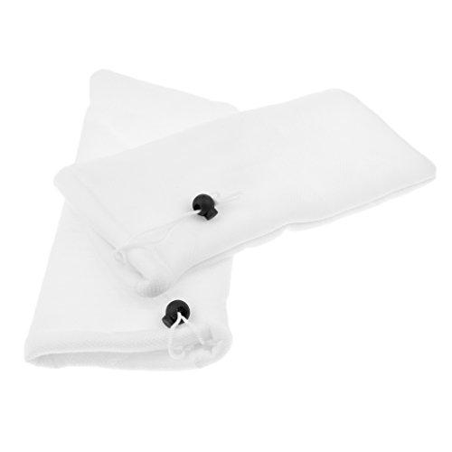 non-brand MagiDeal 2 Stück Filterbeutel Filtersack Polyester Aquarium Filter Tasche - S -