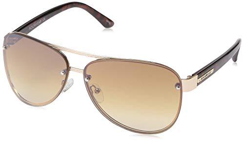 Rocawear Women's R3262 Gldts Non-Polarized Iridium Aviator Sunglasses, Gold Tortoise, 62 mm