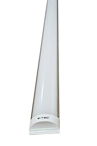 40w Röhre (40W - 120 cm - V-TAC - LED Deckenleuchte LED Röhren LED Lineare Lampe - Prismenglas-weiß6400K)