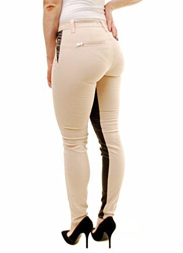 J Brand Damen Colorblock Dünn Nikko Jeans Beige