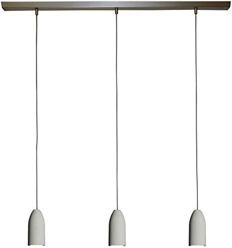 Hänge-Lampe 'light edition' 3-Flammig Dimmbar, Textilkabel Grau (19 Farben), Deckenleuchte,...