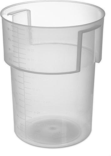 Carlisle Bain Marie Vorratsdose, rund, 22 Quart, transparent, 1 Bain Marie Container
