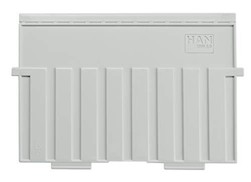 HAN 9025-11, Stützplatte DIN A5 quer, für HAN Karteitröge und Karteikästen, lichtgrau, 5 Stück