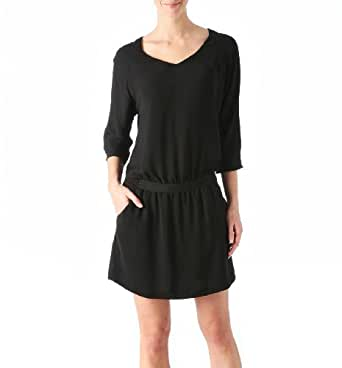Promod Seidiges Tunika-Kleid Schwarz 40