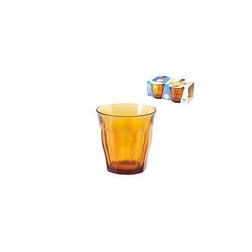 Duralex, 5152225Picardie - 4Vasos de Cristal, 25cl, ámbar