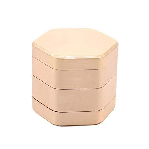 YUANZHOU New Hexagon Herb Grinder 4 Schichten Zinklegierung Rainbow Tobacco Grinder (58mm),Gold
