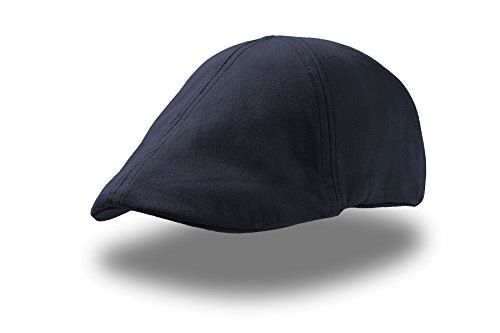 GA-STR navy Gatsby Flatcap Schiebermütze Cap Schirmmütze Sportmütze Golfmütze für Herren und Damen geeignet