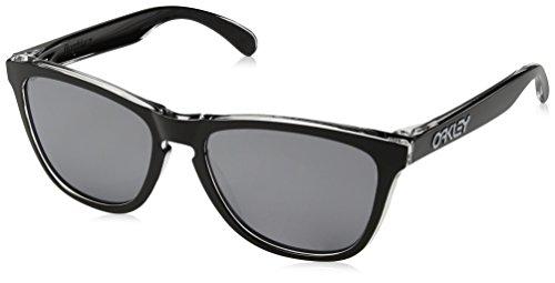 Oakley Herren Sonnenbrille Frogskins,Schwarz (Eclipse Clear / Black iridium), 55