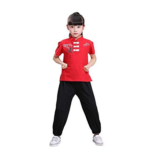 Kostüm Kinder Chinesische - Hzjundasi Chinesisch Kampfkunst Kostüm - Kinder Kung Fu Tai Chi Performance Wettbewerb Uniform