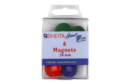 244x 6 coloridos imanes/diámetro: 24mm