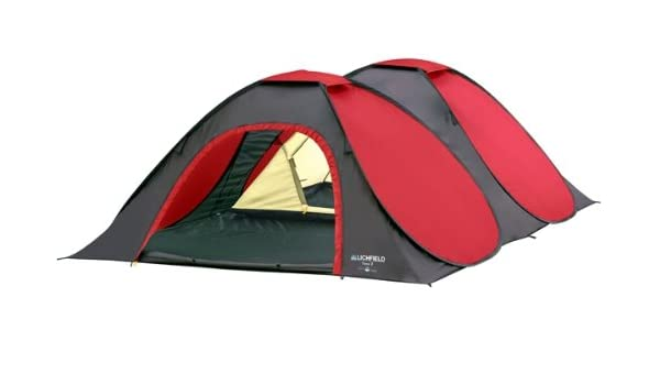 Lichfield C&ing Yana 3 Man Pop Up Tent Amazon.co.uk Sports u0026 Outdoors  sc 1 st  Amazon UK & Lichfield Camping Yana 3 Man Pop Up Tent: Amazon.co.uk: Sports ...