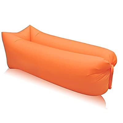 Uming Air Beg Portable Lazy Lounger Sleeping Bag Outdoor Air Sleep Sofa Laybag Couch Bed Nylon Waterproof Collapsible Sport Camping Beach Fishing - low-cost UK light store.