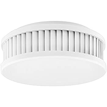 Gira Dual Q DIN14604 Smoke detector that Can be networked via wireless and wired 233602 Pure White