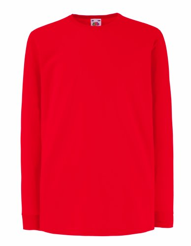 Kinder Langarm T-Shirt Kids Shirt - Shirtarena Bündel 140,Rot