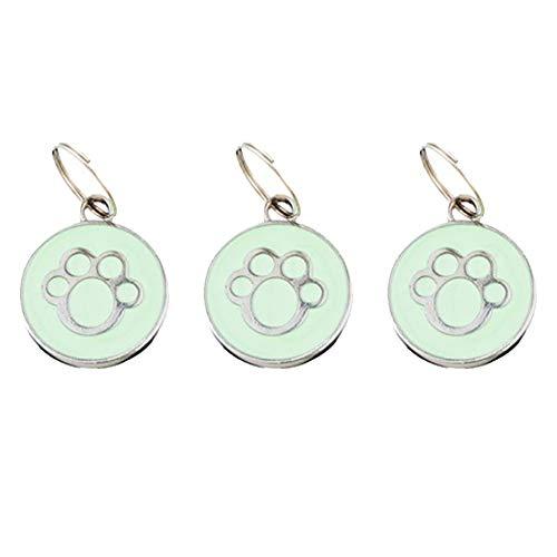 LAAT 3 Piezas Etiqueta de Identificación para Mascota Colgante para Collar de Perro y Gato Grabado del Nombre Recuperar Etiquetas de Perro