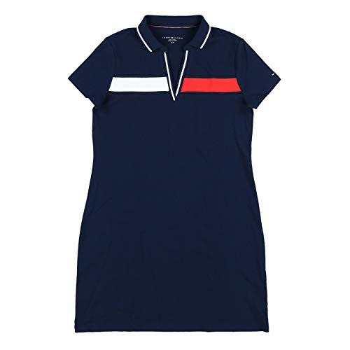 Tommy Hilfiger Womens Tina Ribbon Logo Polo Dress