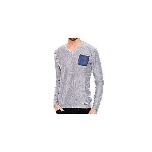 Petrol Industries Round neck doppio collar knit
