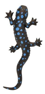 Gummisalamander Blauflecken-Molch Echse, Schwarz / Blau, 20 cm (Spielzeug-echsen)