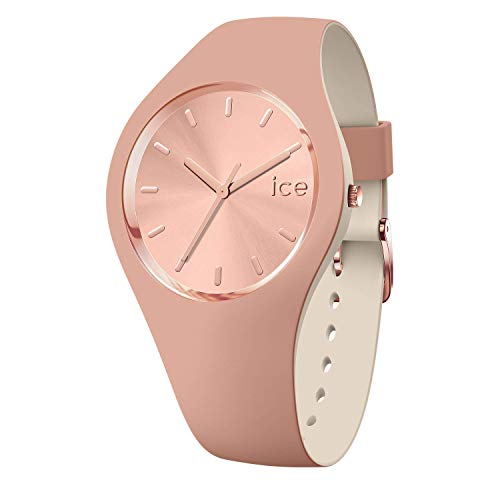 Ice-Watch - ICE duo chic Blush - Montre marron pour femme avec bracelet en silicone - 016980 (Small)