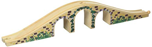 Bigjigs Rail BJT111 Brücke mit drei Bögen-kompatibel mit anderen großen Holz-Eisenbahn-Marken