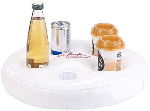 infactory Poolbar: Aufblasbarer Schwimm-Getränkehalter, 5 Halterungen, Ø jeweils 5,5 cm (Schwimmender Getränkehalter)
